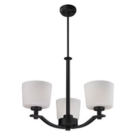 Z-Lite Arlington 3 Light Chandelier in Oil Rubbed Bronze 220-3