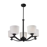 Z-Lite Arlington 5 Light Chandelier in Oil Rubbed Bronze 220-5