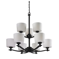 Z-Lite Arlington 9 Light Chandelier in Oil Rubbed Bronze 220-9