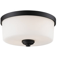 Z-Lite 220F2 Arlington 2 Light 12 inch Bronze Flush Mount Ceiling Light