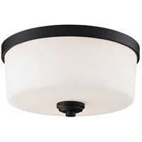 Arlington 3 Light 14 inch Bronze Flush Mount Ceiling Light