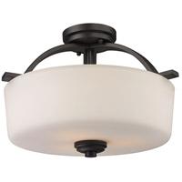 Z-Lite 220SF Arlington 3 Light 16 inch Bronze Semi Flush Mount Ceiling Light