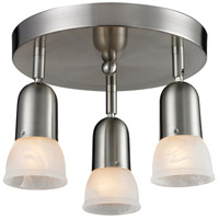 Pria 3 Light 11 inch Brushed Nickel Semi Flush Mount Ceiling Light