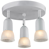 Pria 3 Light 11 inch Gloss White Semi Flush Mount Ceiling Light