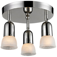 Pria 3 Light 11 inch Chrome Semi Flush Mount Ceiling Light