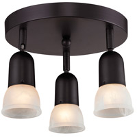 Pria 3 Light 11 inch Oil Rubbed Bronze Semi Flush Mount Ceiling Light