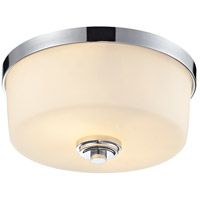 Z-Lite 225F2 Lamina 2 Light 12 inch Chrome Flush Mount Ceiling Light