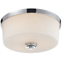 Z-Lite 225F3 Lamina 3 Light 14 inch Chrome Flush Mount Ceiling Light