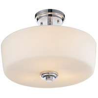 Lamina 3 Light 14 inch Chrome Semi Flush Mount Ceiling Light