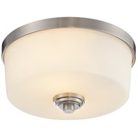 Lamina 2 Light 12 inch Brushed Nickel Flush Mount Ceiling Light