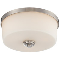 Lamina 3 Light 14 inch Brushed Nickel Flush Mount Ceiling Light