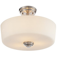 Lamina 3 Light 14 inch Brushed Nickel Semi Flush Mount Ceiling Light