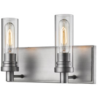 Z-Lite 3000-2V-OS Persis 2 Light 13 inch Old Silver Vanity Wall Light