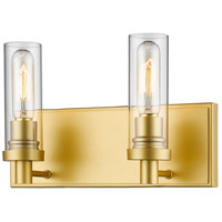 Persis 2 Light 13 inch Satin Gold Vanity Light Wall Light