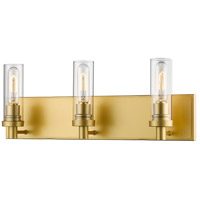 Persis 3 Light 22 inch Satin Gold Vanity Wall Light