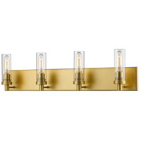 Persis 4 Light 32 inch Satin Gold Vanity Light Wall Light