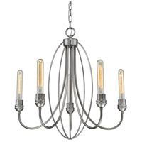 Persis 5 Light 22 inch Old Silver Chandelier Ceiling Light