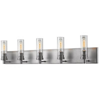 Z-Lite 3000-5V-OS Persis 5 Light 40 inch Old Silver Vanity Light Wall Light