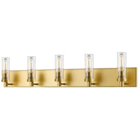 Persis 5 Light 40 inch Satin Gold Vanity Light Wall Light