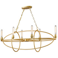 Z-Lite 3000-6SG Persis 6 Light 15 inch Satin Gold Chandelier Ceiling Light