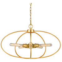 Persis 5 Light 28 inch Satin Gold Pendant Ceiling Light