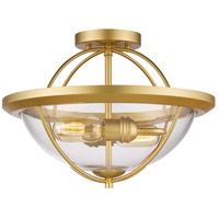 Z-Lite 3000SF-SG Persis 2 Light 15 inch Satin Gold Semi Flush Mount Ceiling Light
