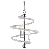 Z-Lite 3001-3ACH Czarina 3 Light 15 inch Chrome Pendant Ceiling Light in 15.00