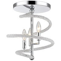Czarina 3 Light 15 inch Chrome Semi Flush Mount Ceiling Light