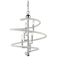 Z-Lite 3001-6CH Czarina 6 Light 20 inch Chrome Pendant Ceiling Light in 20.00