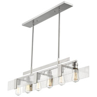 Gantt 6 Light 42 inch Brushed Nickel Island Light Ceiling Light in 42.00