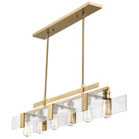 Gantt 6 Light 42 inch Vintage Brass Island Light Ceiling Light in 42.00