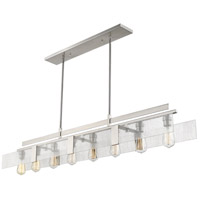 Gantt 8 Light 59 inch Brushed Nickel Island Light Ceiling Light