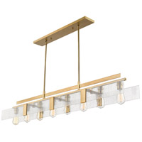 Gantt 8 Light 59 inch Vintage Brass Island Light Ceiling Light