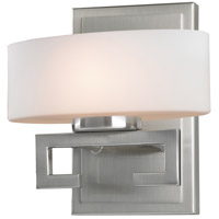 Z-Lite 3010-1V Cetynia 1 Light 8 inch Brushed Nickel Vanity Wall Light in G9