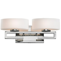 Z-Lite 3011-2V Cetynia 2 Light 16 inch Chrome Vanity Wall Light in G9