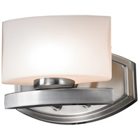 Z-Lite 3013-1V Galati 1 Light 8 inch Brushed Nickel Vanity Wall Light in G9