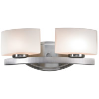 Z-Lite 3013-2V Galati 2 Light 16 inch Brushed Nickel Vanity Wall Light in G9
