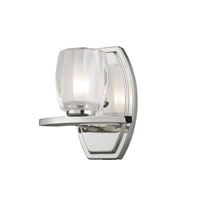 Haan 1 Light 7 inch Chrome Vanity Wall Light
