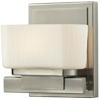 Gaia LED 6 inch Brushed Nickel Vanity Light Wall Light in 1