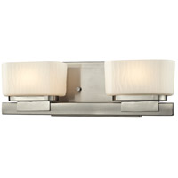 Z-Lite 3019-2V Gaia 2 Light 15 inch Brushed Nickel Vanity Wall Light in G9