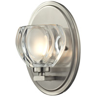Hale LED 5 inch Brushed Nickel Vanity Light Wall Light in 1