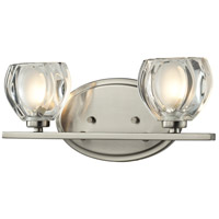 Hale 2 Light 13 inch Brushed Nickel Vanity Light Wall Light in G9