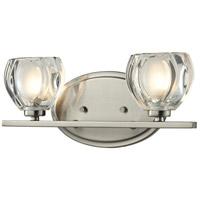 Z-Lite 3022-2V Hale 2 Light 13 inch Brushed Nickel Vanity Wall Light in G9