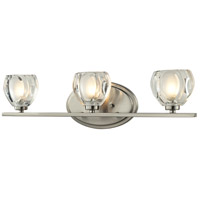 Hale 3 Light 21 inch Brushed Nickel Vanity Light Wall Light in G9