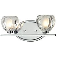 Z-Lite 3023-2V Hale 2 Light 13 inch Chrome Vanity Wall Light in G9