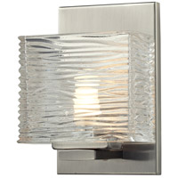 Z-Lite 3024-1V Jaol 1 Light 5 inch Brushed Nickel Vanity Wall Light in G9