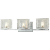 Z-Lite 3025-3V Jaol 3 Light 23 inch Chrome Vanity Wall Light in G9