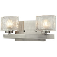 Rai 2 Light 13 inch Brushed Nickel Vanity Light Wall Light in G9