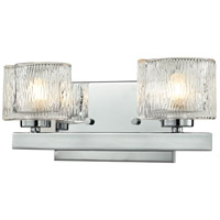 Z-Lite 3028-2V Rai 2 Light 13 inch Chrome Vanity Wall Light in G9