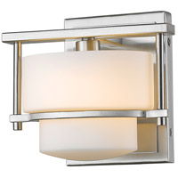 Z-Lite Porter 1 Light Wall Sconce in Brushed Nickel 3030-1S-BN